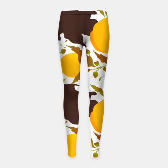 Thumbnail image of Closed roses bud on white Leggings para niña, Live Heroes