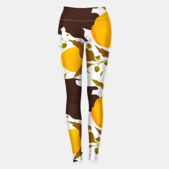Thumbnail image of Closed roses bud on white Leggings, Live Heroes