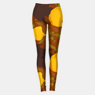Thumbnail image of Closed roses bud on brown Leggings, Live Heroes