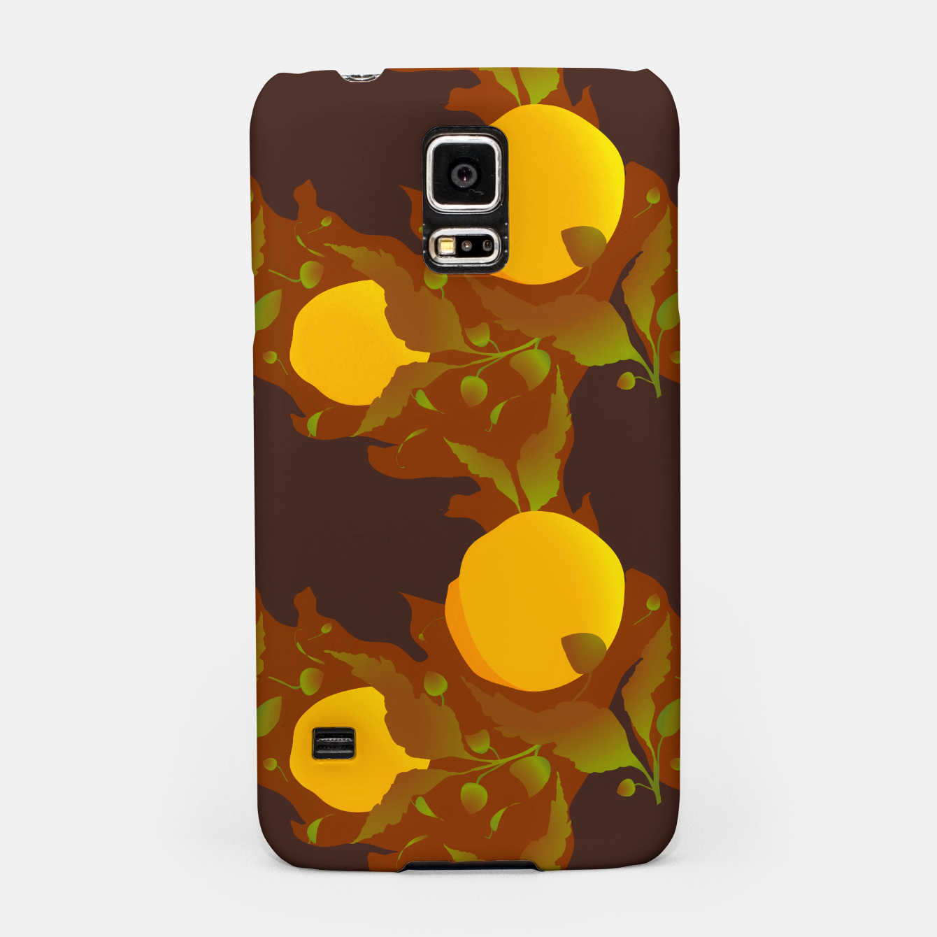 Image of Closed roses bud on brown Carcasa por Samsung - Live Heroes