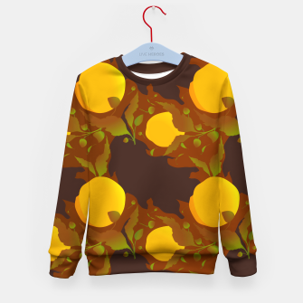 Closed roses bud on brown Sudadera para niños thumbnail image