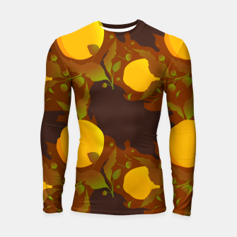 Thumbnail image of Closed roses bud on brown Longsleeve rashguard, Live Heroes