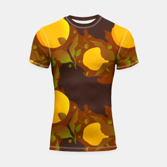 Thumbnail image of Closed roses bud on brown Shortsleeve rashguard, Live Heroes