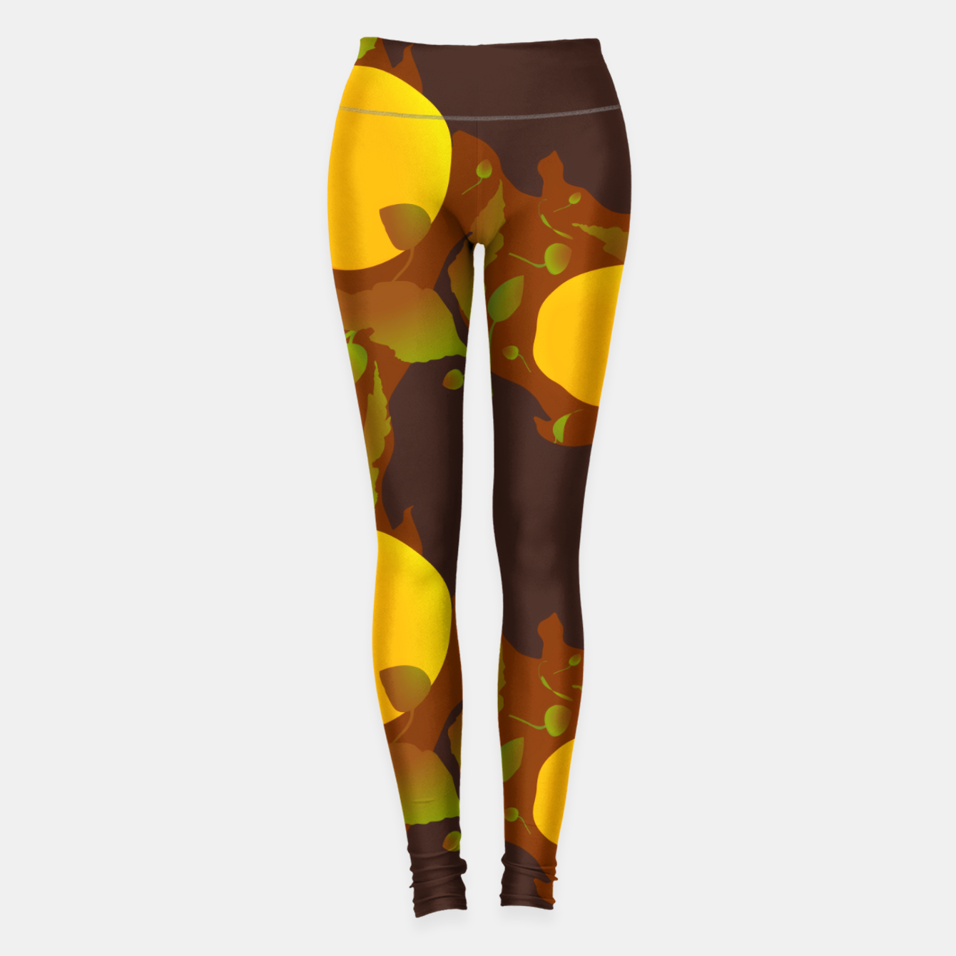 Image of Closed roses bud on brown Leggings - Live Heroes