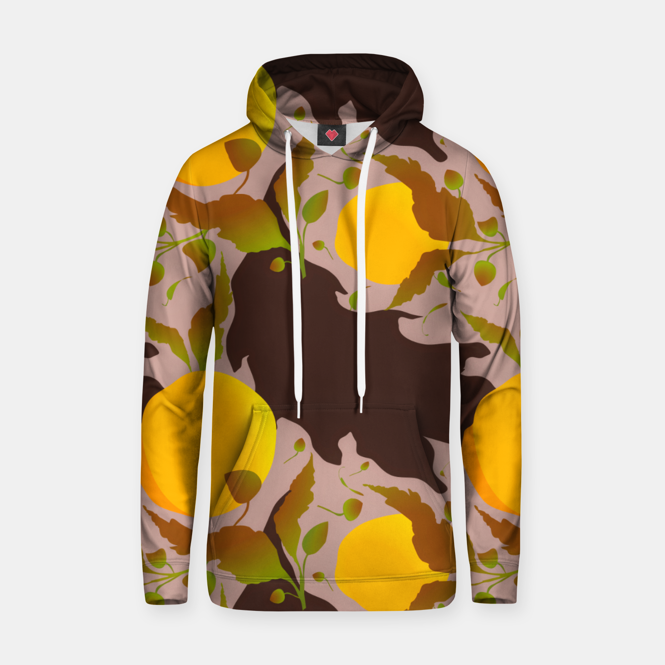 Image of Closed roses bud on light brown Sudadera con capucha - Live Heroes