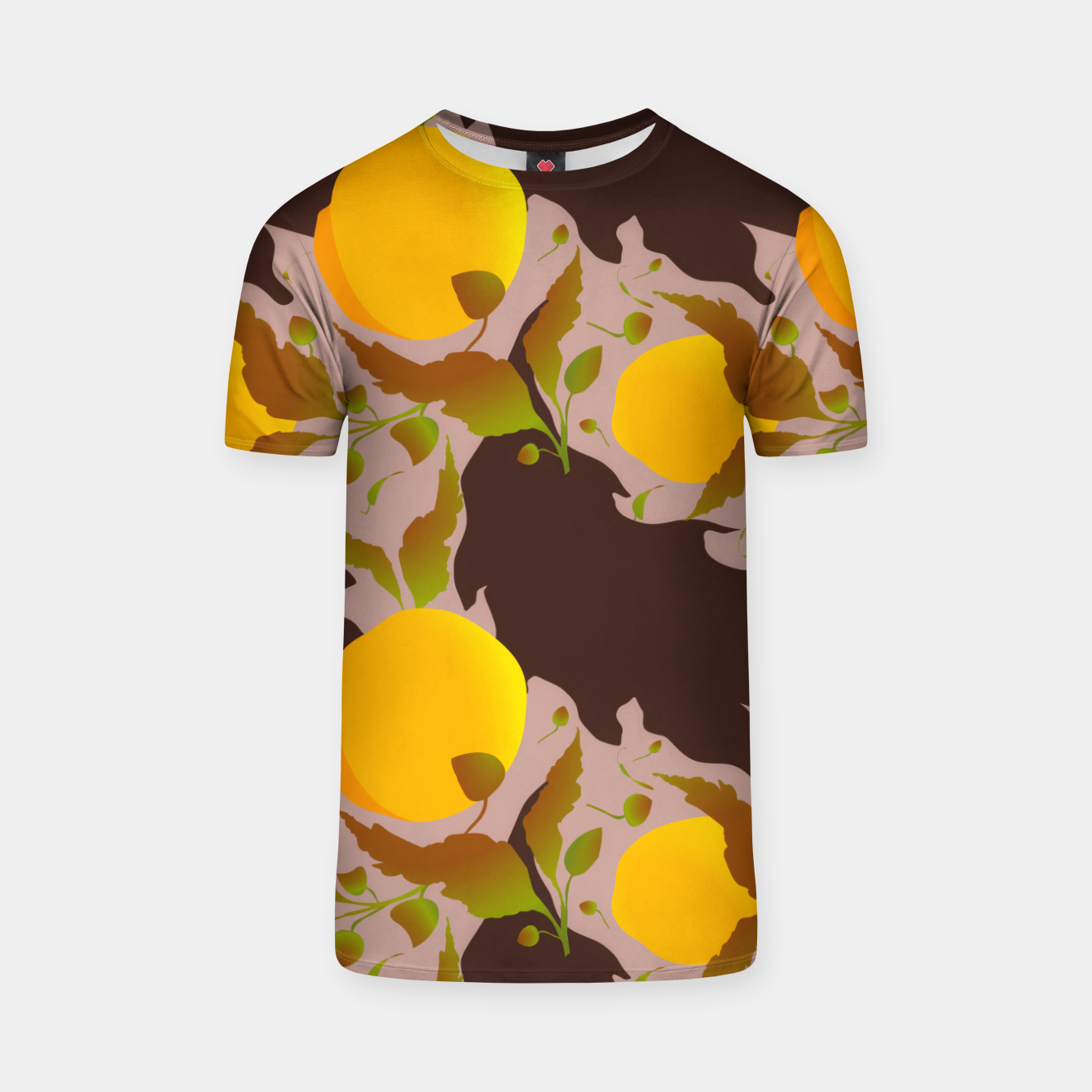 Image of Closed roses bud on light brown Camiseta - Live Heroes