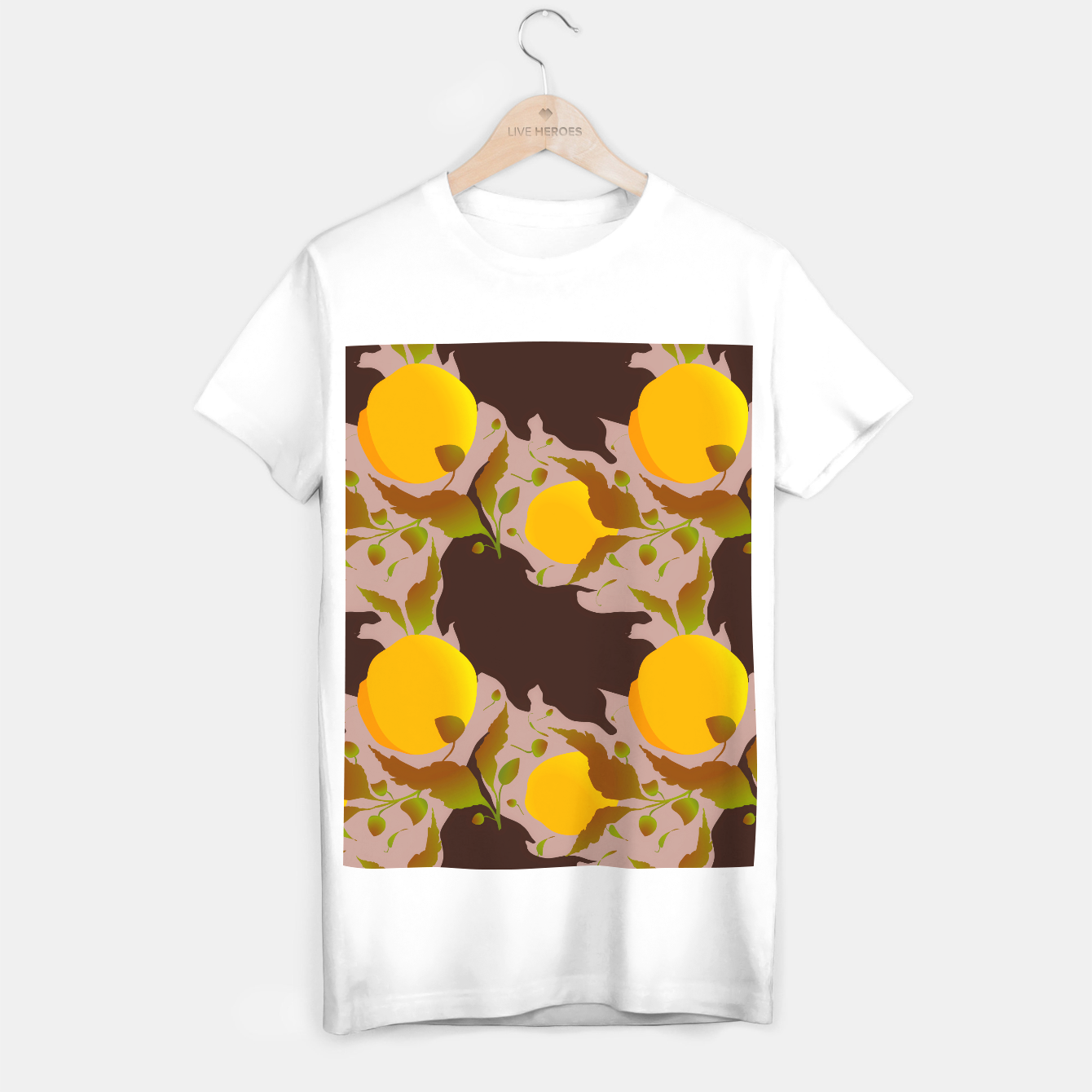 Image of Closed roses bud on light brown Camiseta Regular - Live Heroes