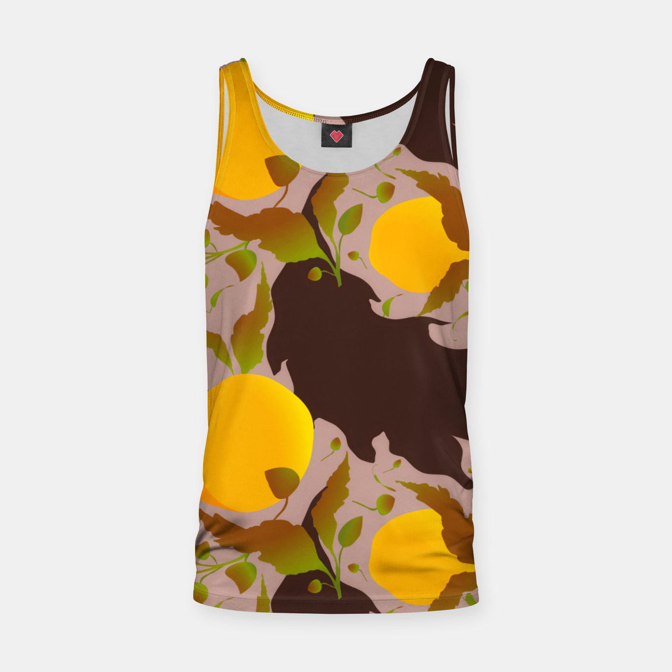 Image of Closed roses bud on light brown Camiseta de tirantes - Live Heroes