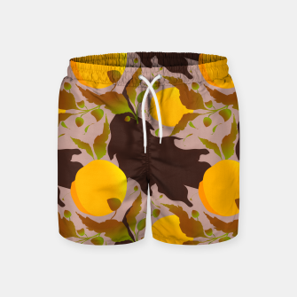 Miniature de image de Closed roses bud on light brown Pantalones de baño, Live Heroes