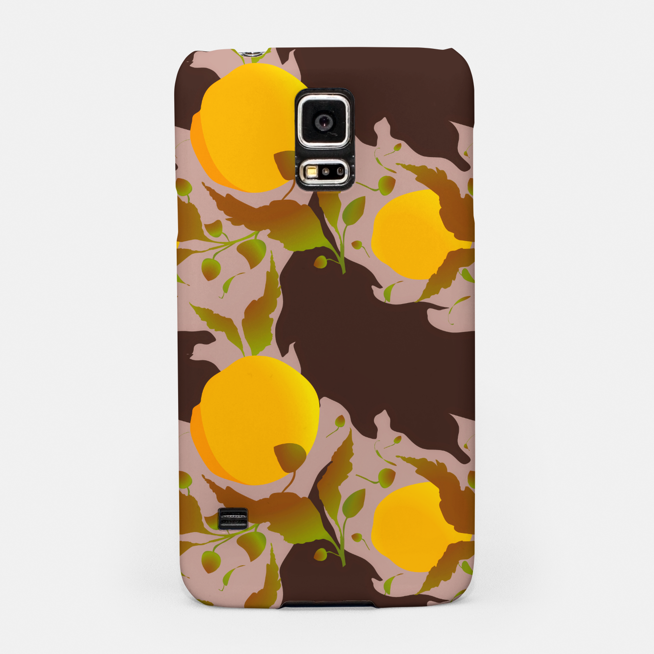 Image of Closed roses bud on light brown Carcasa por Samsung - Live Heroes