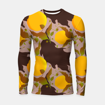 Thumbnail image of Closed roses bud on light brown Longsleeve rashguard, Live Heroes