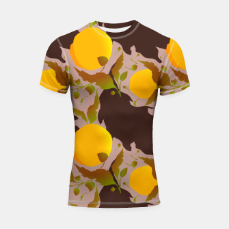 Closed roses bud on light brown Shortsleeve rashguard thumbnail image