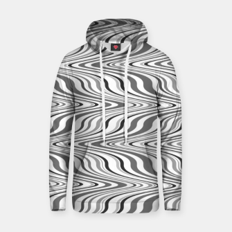 Thumbnail image of Moving curves optical illusion, black and white ikat pattern Hoodie, Live Heroes