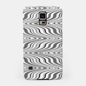 Thumbnail image of Moving curves optical illusion, black and white ikat pattern Samsung Case, Live Heroes