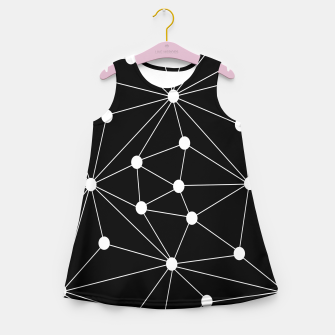 Miniaturka Abstract geometric pattern - black and white. Girl's summer dress, Live Heroes