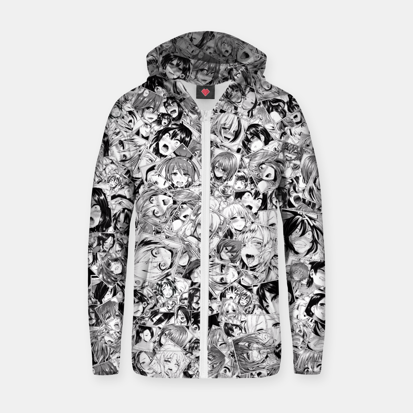 Image of Manga ahegao Zip up hoodie - Live Heroes