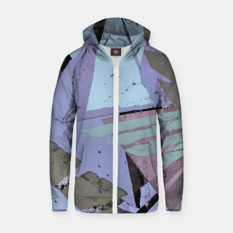 Thumbnail image of Broken window pane Zip up hoodie, Live Heroes