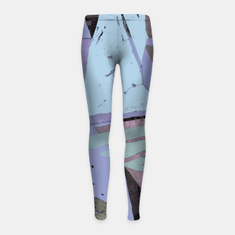 Thumbnail image of Broken window pane Girl's leggings, Live Heroes