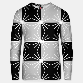 Miniaturka Abstract geometric pattern - gray, black and white. Unisex sweater, Live Heroes