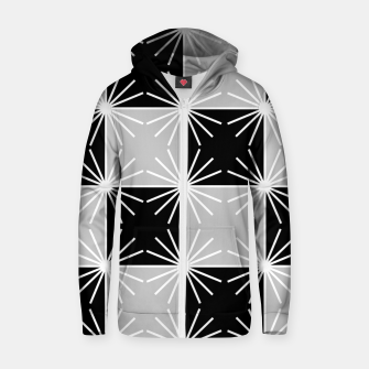 Miniaturka Abstract geometric pattern - gray, black and white. Zip up hoodie, Live Heroes
