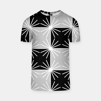 Miniaturka Abstract geometric pattern - gray, black and white. T-shirt, Live Heroes