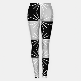 Miniaturka Abstract geometric pattern - gray, black and white. Leggings, Live Heroes
