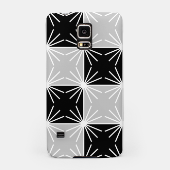 Miniaturka Abstract geometric pattern - gray, black and white. Samsung Case, Live Heroes