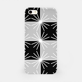 Miniaturka Abstract geometric pattern - gray, black and white. iPhone Case, Live Heroes