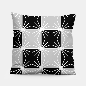 Miniaturka Abstract geometric pattern - gray, black and white. Pillow, Live Heroes