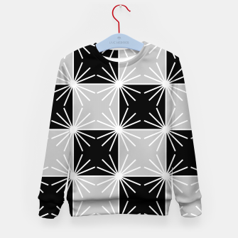 Miniaturka Abstract geometric pattern - gray, black and white. Kid's sweater, Live Heroes