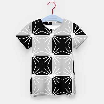 Miniaturka Abstract geometric pattern - gray, black and white. Kid's t-shirt, Live Heroes