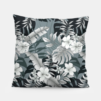 Thumbnail image of TROPICAL VACATION PRINT IN GREY Pillow, Live Heroes