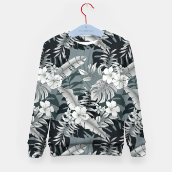 Thumbnail image of TROPICAL VACATION PRINT IN GREY Kid's sweater, Live Heroes