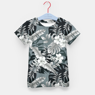 Thumbnail image of TROPICAL VACATION PRINT IN GREY Kid's t-shirt, Live Heroes