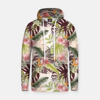 TROPICAL VACATION PRINT IN PINK & GREEN Hoodie thumbnail image