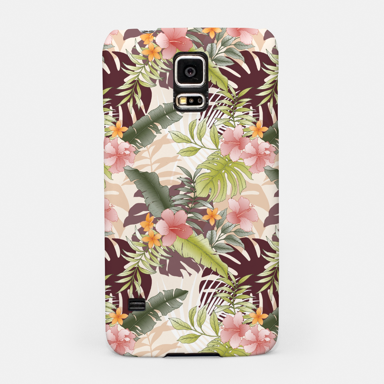 Image of TROPICAL VACATION PRINT IN PINK & GREEN Samsung Case - Live Heroes