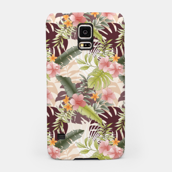 TROPICAL VACATION PRINT IN PINK & GREEN Samsung Case thumbnail image