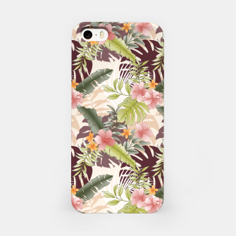 TROPICAL VACATION PRINT IN PINK & GREEN iPhone Case thumbnail image