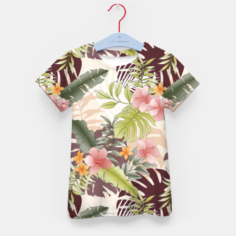 TROPICAL VACATION PRINT IN PINK & GREEN Kid's t-shirt thumbnail image