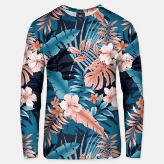 TROPICAL VACATION PRINT IN NAVY Unisex sweater thumbnail image