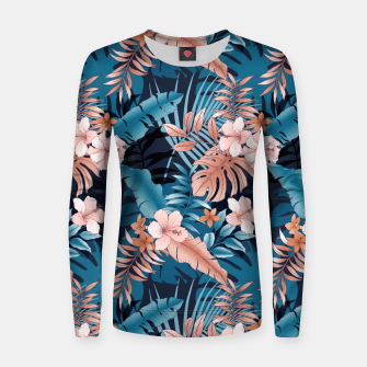TROPICAL VACATION PRINT IN NAVY Women sweater thumbnail image