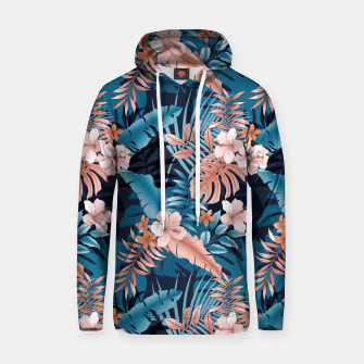 TROPICAL VACATION PRINT IN NAVY Hoodie thumbnail image