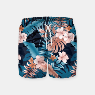 Thumbnail image of TROPICAL VACATION PRINT IN NAVY Swim Shorts, Live Heroes