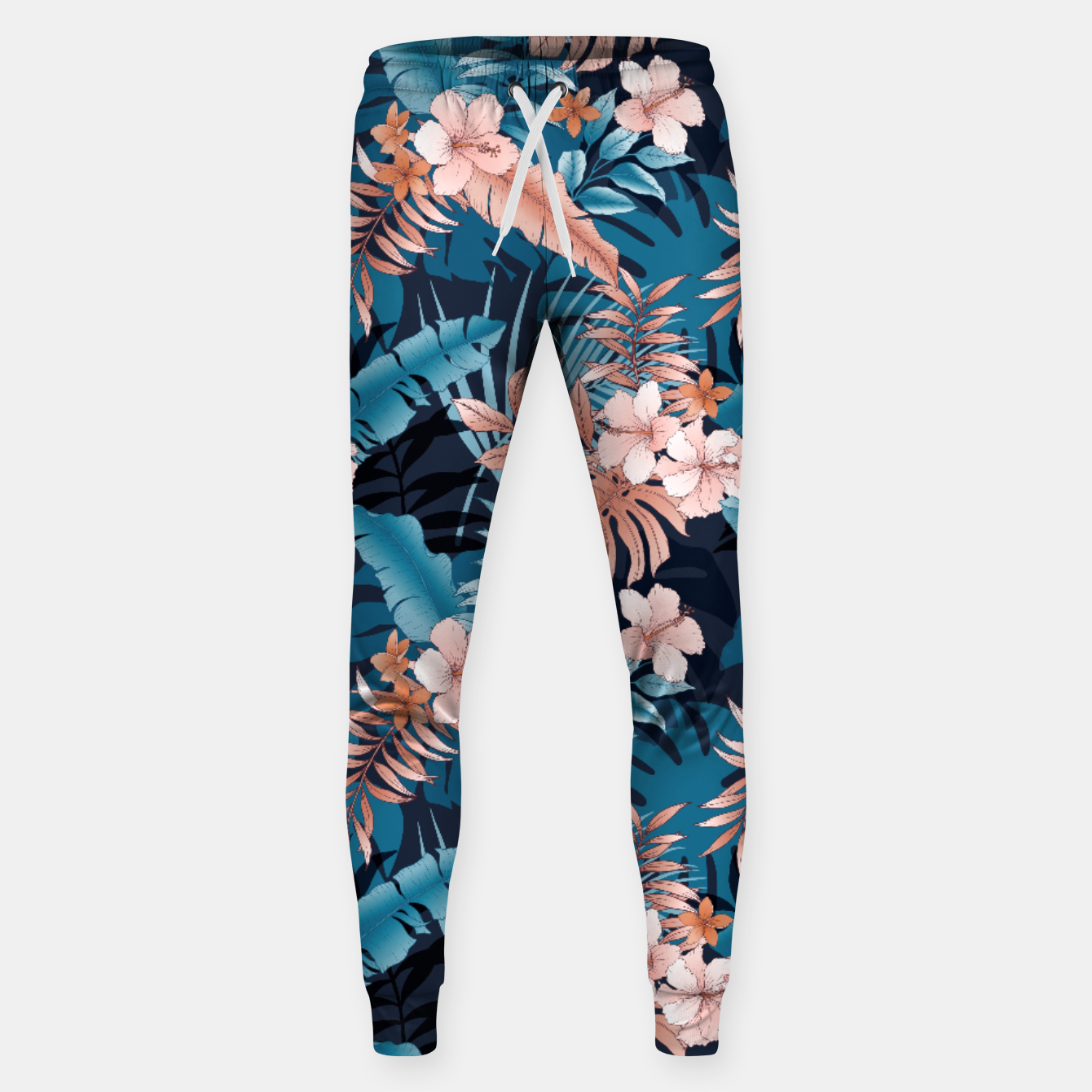 Image of TROPICAL VACATION PRINT IN NAVY Sweatpants - Live Heroes
