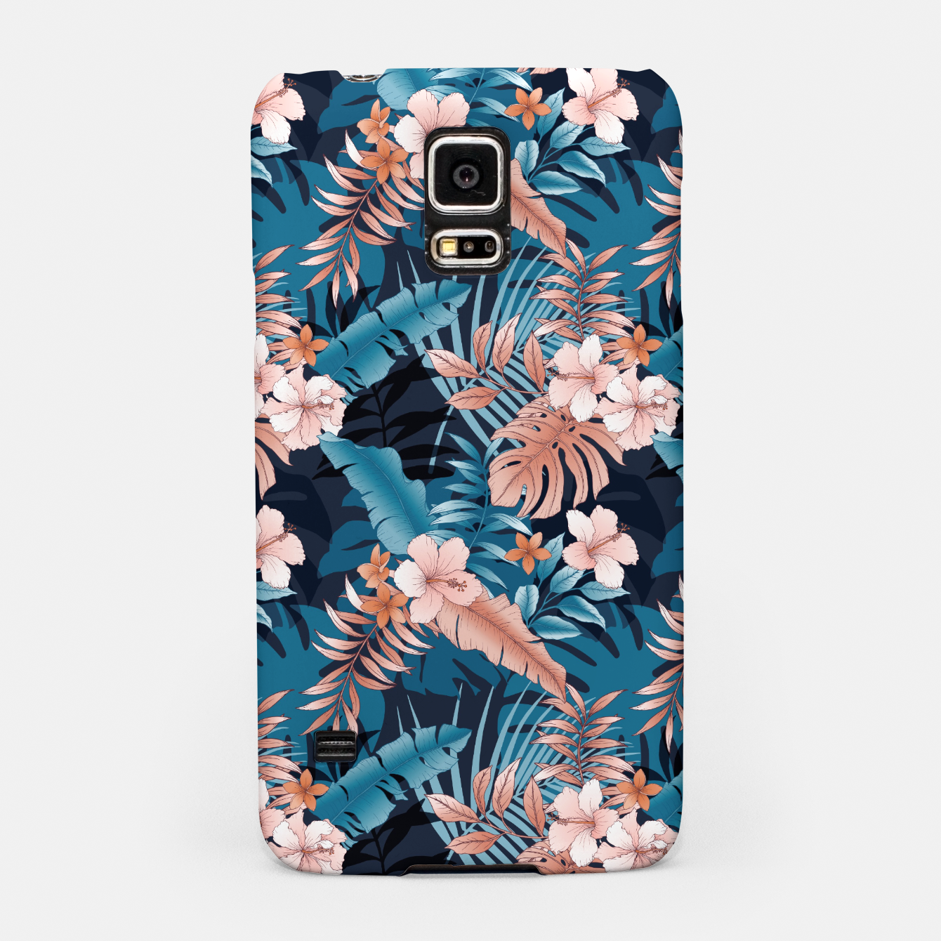 Image of TROPICAL VACATION PRINT IN NAVY Samsung Case - Live Heroes