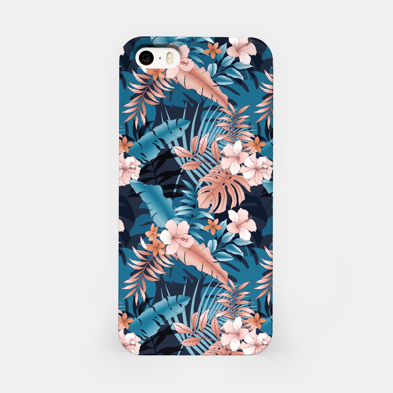 Image of TROPICAL VACATION PRINT IN NAVY iPhone Case - Live Heroes
