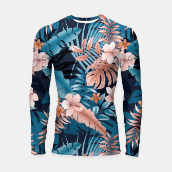 Thumbnail image of TROPICAL VACATION PRINT IN NAVY Longsleeve rashguard , Live Heroes