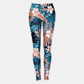 TROPICAL VACATION PRINT IN NAVY Leggings thumbnail image