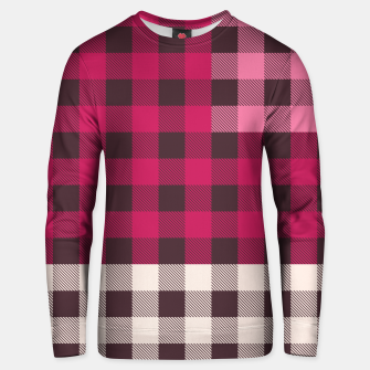 Thumbnail image of PATCHWORK BUFFALO CHECK IN PINK Unisex sweater, Live Heroes