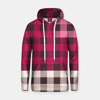 Thumbnail image of PATCHWORK BUFFALO CHECK IN PINK Hoodie, Live Heroes